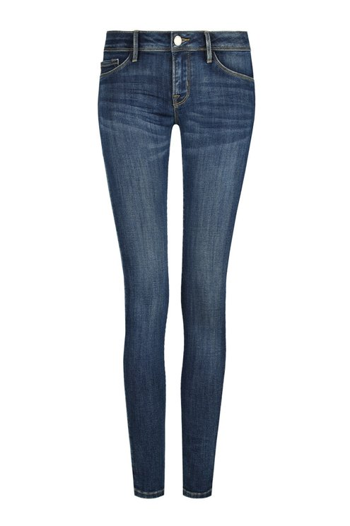 Dark Blue Stone Wash Jeans