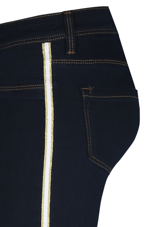 Dunkelblaue Low Waist Jeans