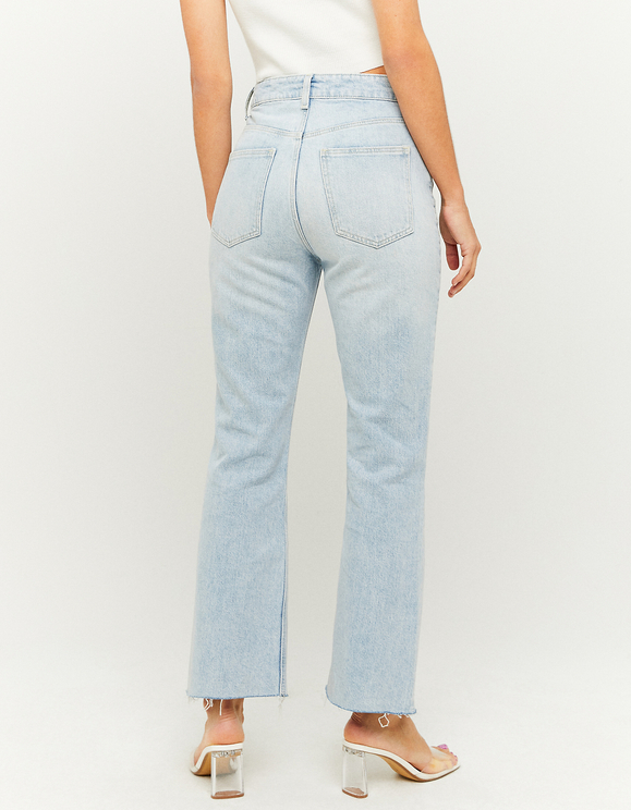High Waist Cropped Flare Jeans