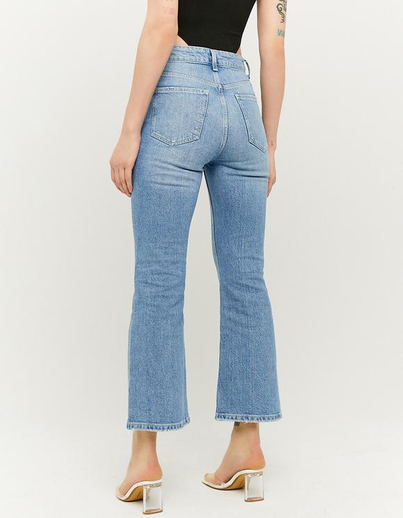 Blaue High Waist Flare Jeans