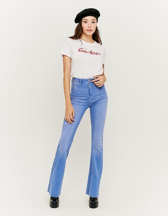 Jeans Skinny a Vita Alta Flare