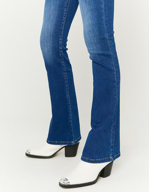 Jean Skinny Taille Haute Évasé