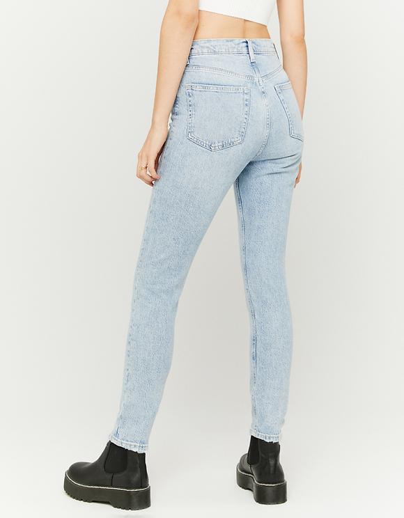 Jeans Straight Fit a Vita Alta