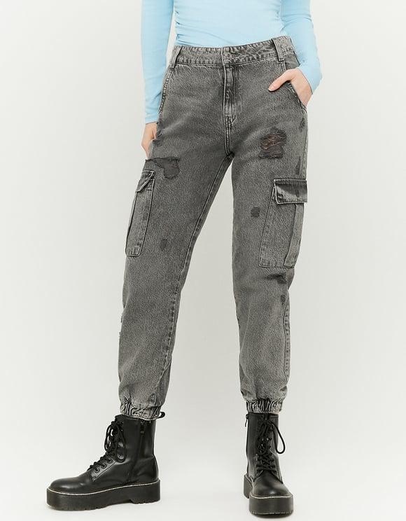 High Waist Cargo Jeans