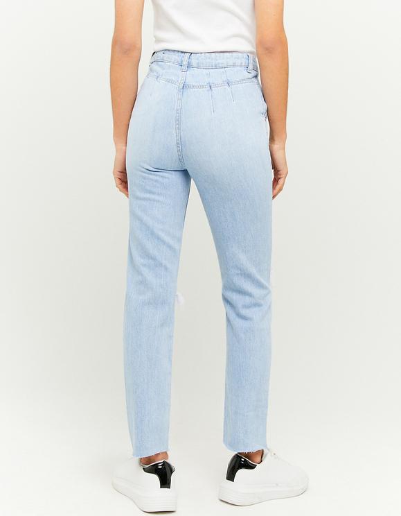 Jeans Mom a Vita Alta Strappati
