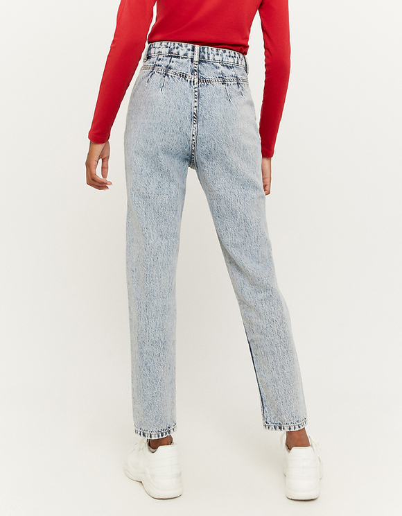 High Waist Slim Mom Jeans