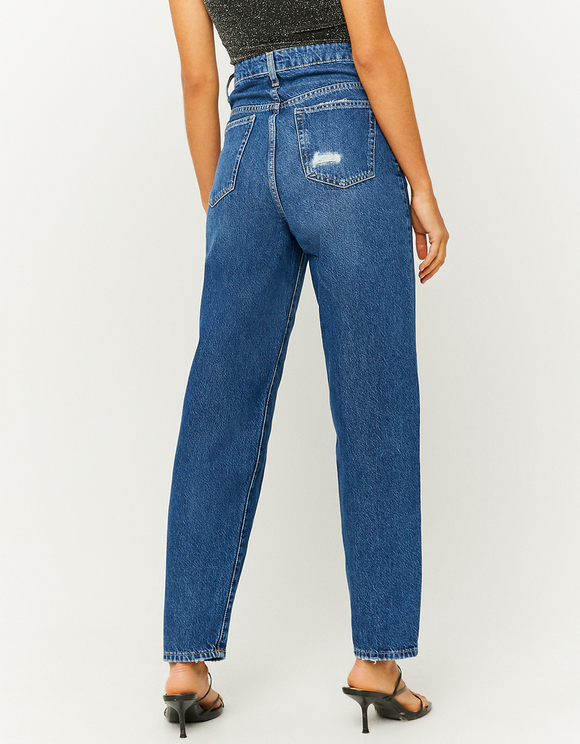 High Waist Ripped Mom Jeans