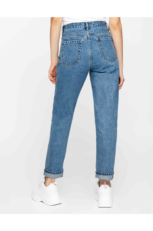 Mom Jeans with Side Stripes