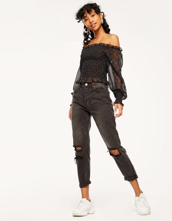 Jeans Neri Vita Alta Vintage