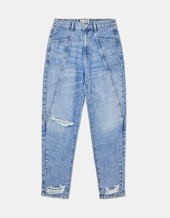 Jeans Mom con Cut-Out