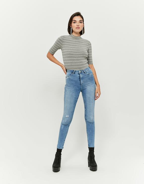 High Waist Push Up Skinny Jeans