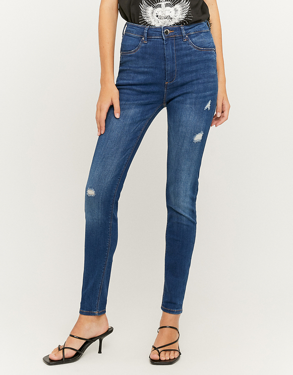 Blaue Push-Up Jeans