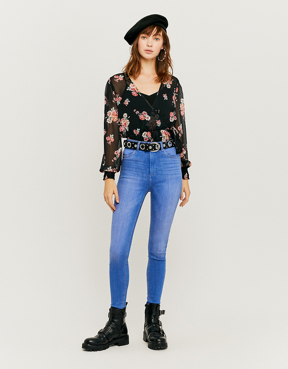 Jean Taille Haute Push Up Skinny