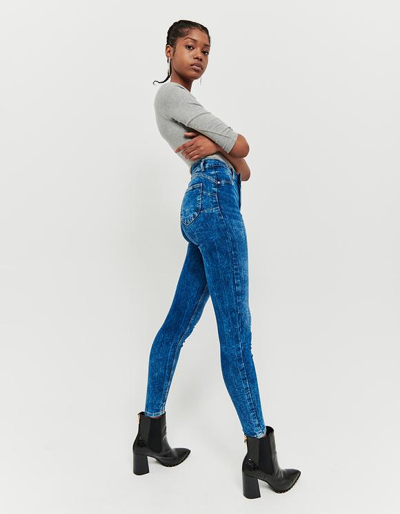 Jeans Skinny Push Up a Vita Alta