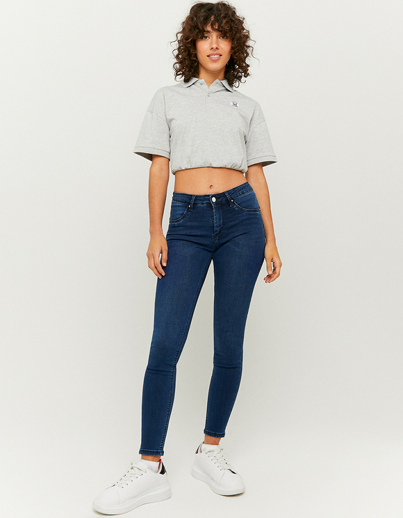 Medium Waist Push Up Skinny Jeans