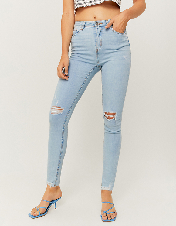 High Waist Ripped Skinny Jeans