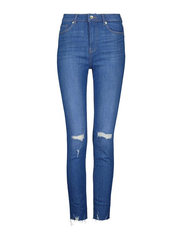 Jean Skinny Taille Haute Déchiré