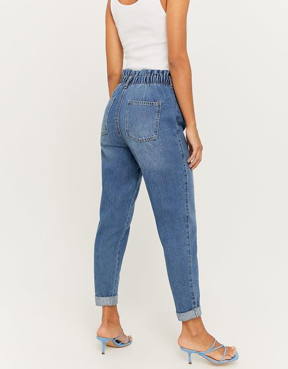 Jean Paperbag Slim Taille Haute