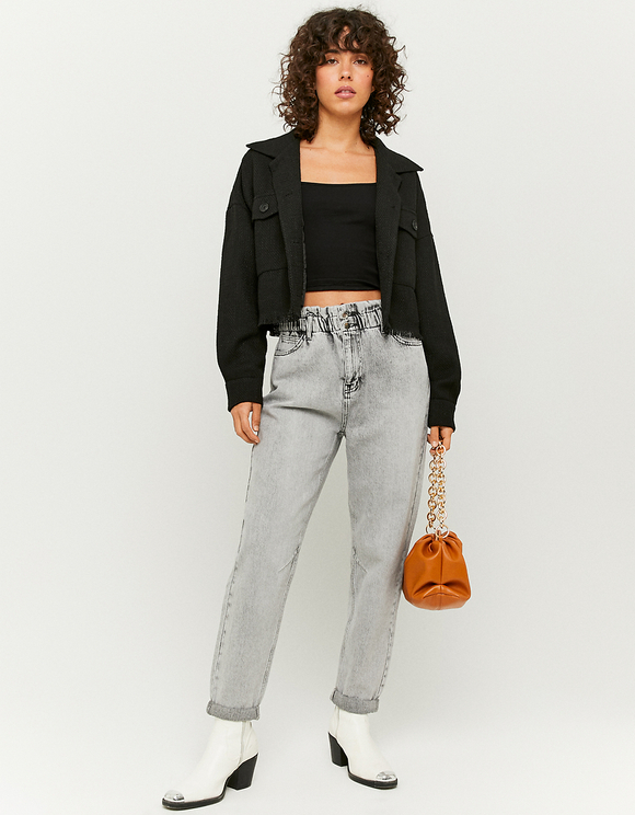 Jeans Slim Paperbag a Vita Alta