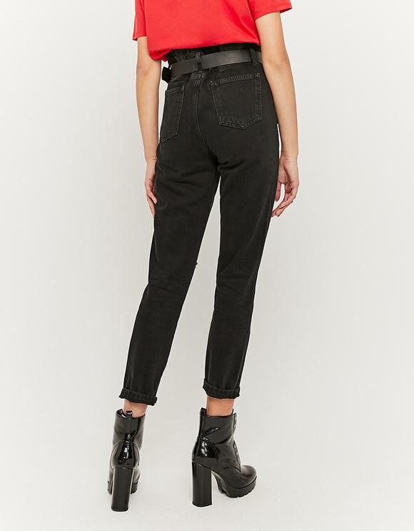 High Waist Paperbag Jeans mit Gürtel