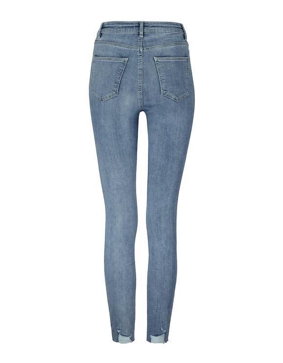 Jean Skinny Destroy Taille Mi-Haute