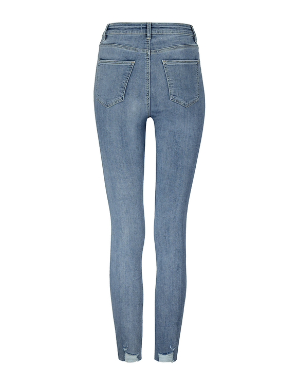 Mid Waist Destroyed Skinny Jeans