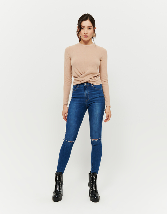 Jeans Skinny Destroy a Vita Alta