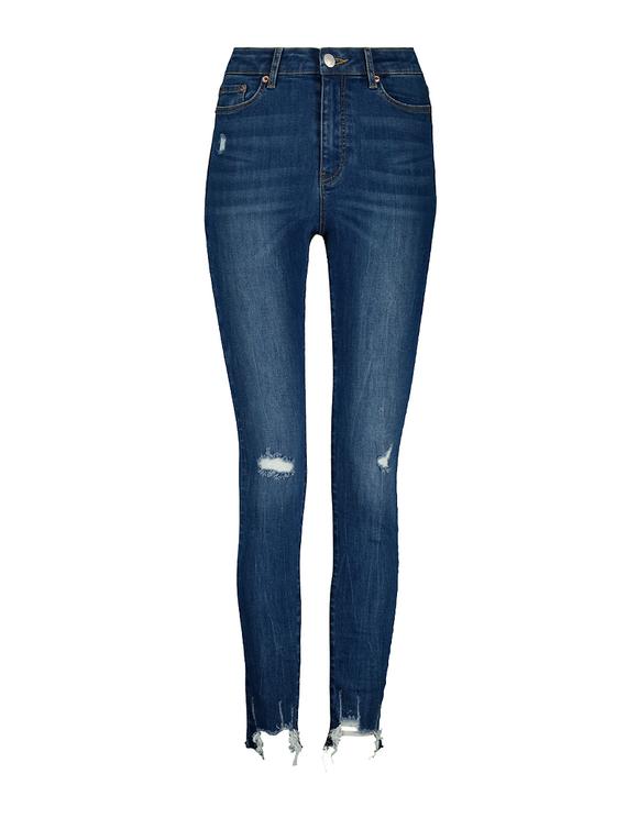 High Waist Destroyed Skinny Jeans