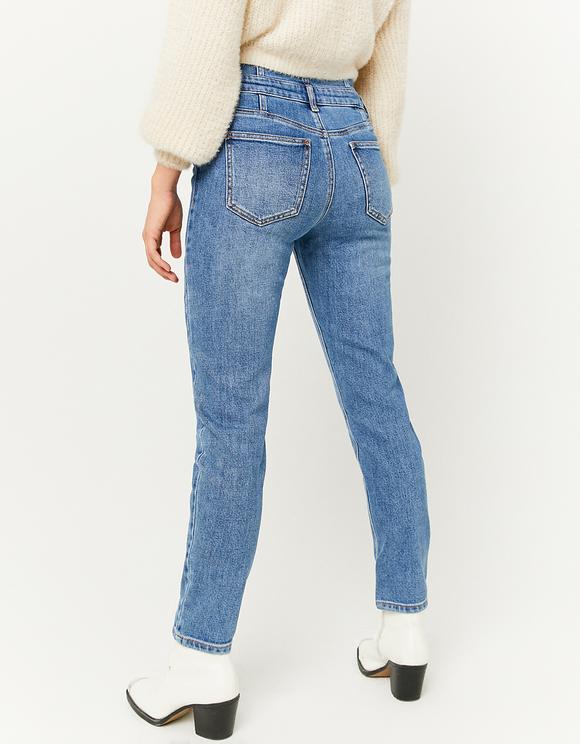 Straight Jeans mit Korsett-Effekt