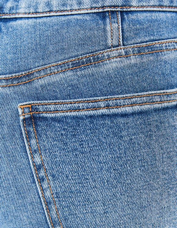 Jeans Straight con Corsetto