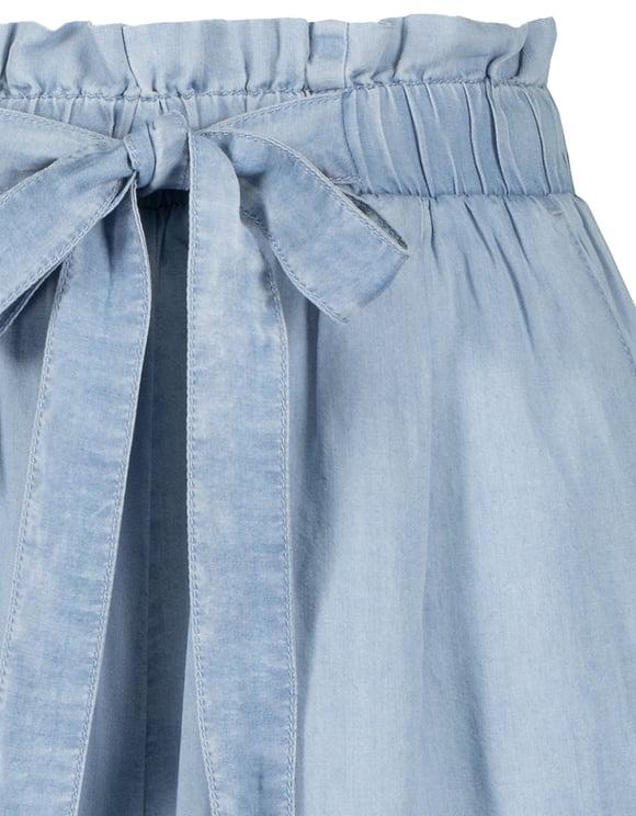 Pantalon Jupe Culotte Léger en Jean