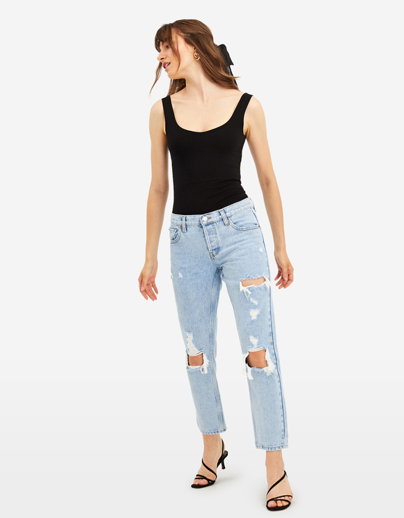 Low Waist Boyfriend Jeans