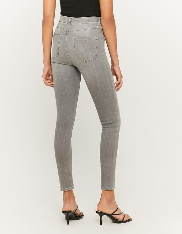 Jean Taille Haute Skinny avec Boutons