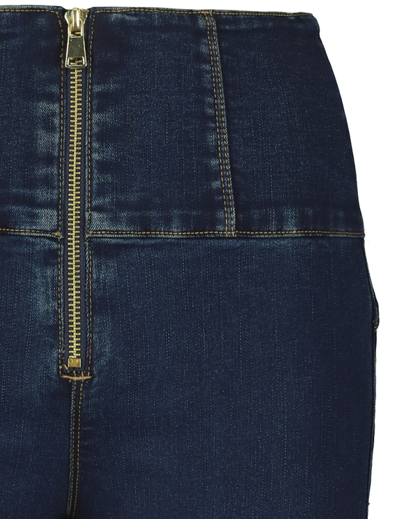 Jean Taille Très Haute Skinny à Zip