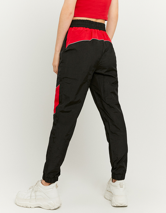 Pantaloni da Jogging in Nylon Bicolore