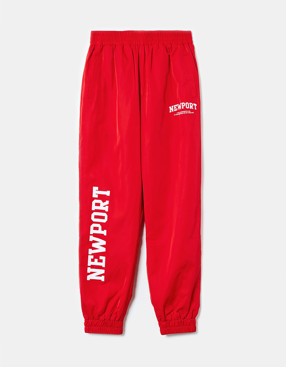 Red Nylon Joggers