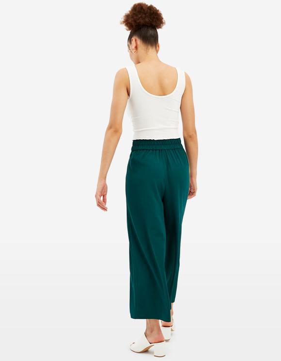 Zielone spodnie Culotte