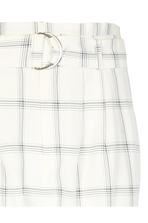 White Checked Trousers