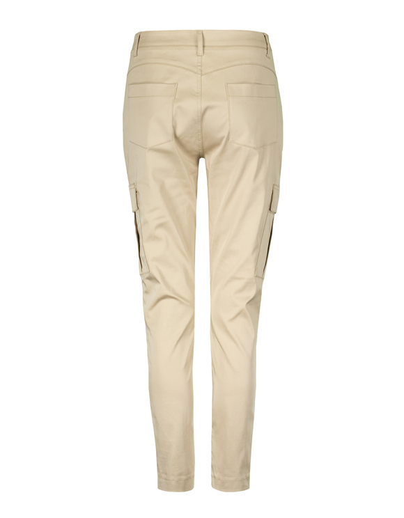 Pantaloni Cargo Skinny Beige