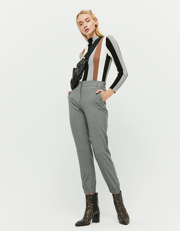 Gray Tapered Trousers