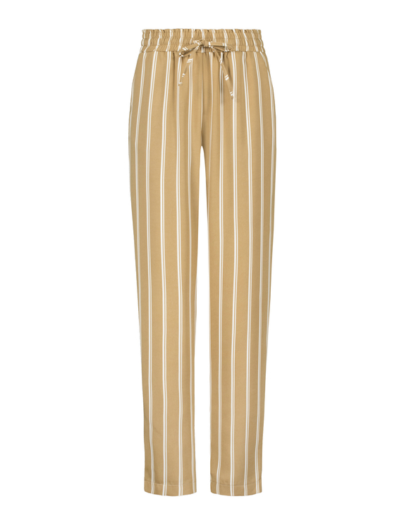 Beige Paperbag Trousers
