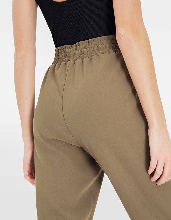 Khaki Paperbag Trousers