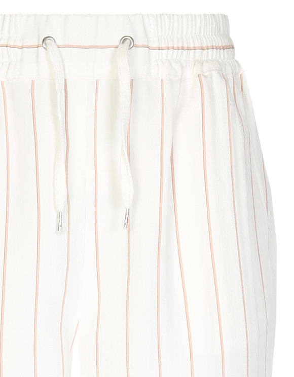 White Pinstriped Trousers