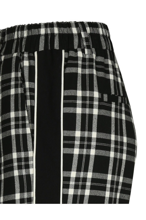 Black Checked Trousers