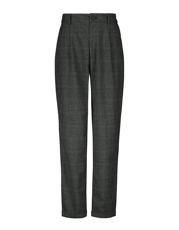 Glen Check Tapered Trousers