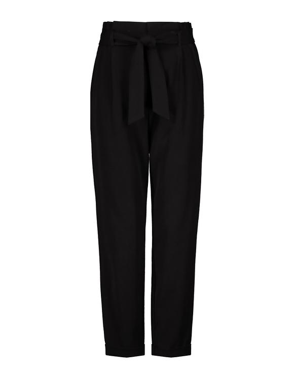 Pantalon Noir Taille Froncée