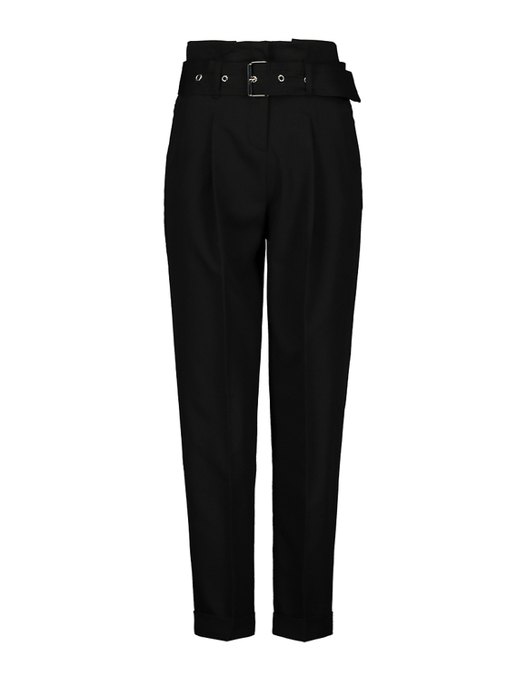 Czarne spodnie Paperbag