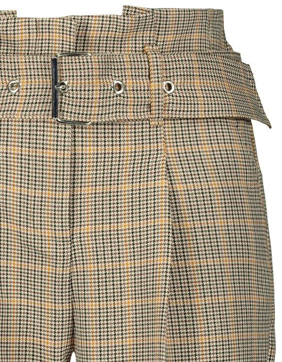Spodnie Paperbag w pepitkę