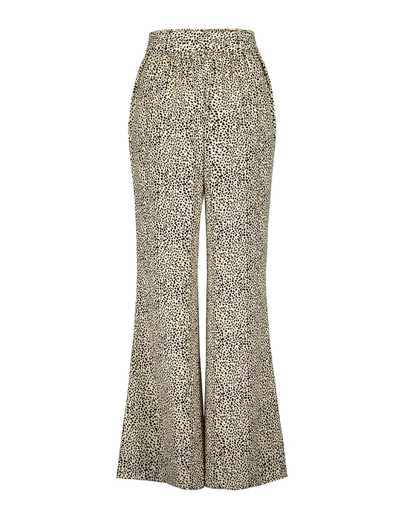 Printed Flare Trousers