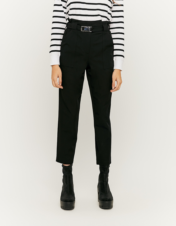 Black Trousers with Buckle